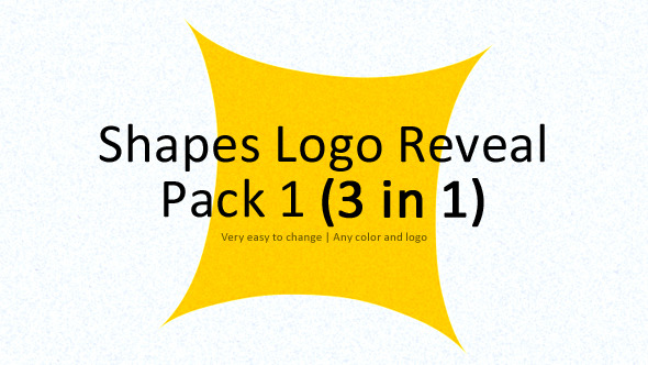 Shapes Logo Reveal Pack 1