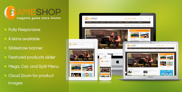 ThemeForest SM GameShop Responsive Magento theme 4608419