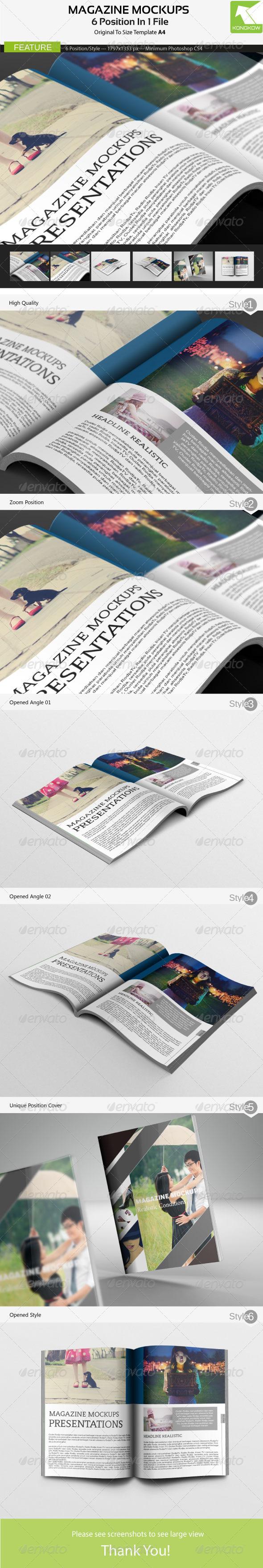 GraphicRiver Magazine Mockups 4795792
