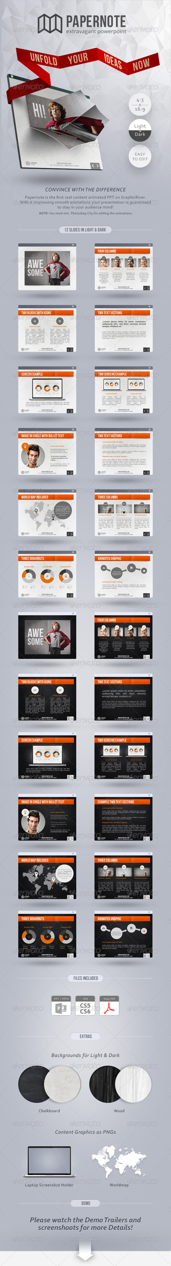 GraphicRiver Papernote Extravagant PowerPoint 4796235