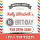 Kid's Happy Birthday Card II - Invitation Template