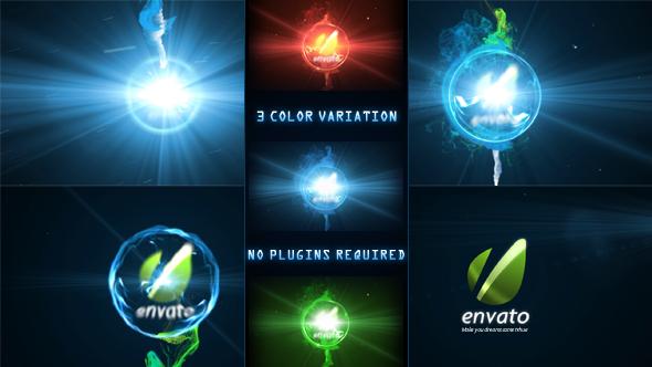 AE模板 蓝色能量爆炸粒子Logo标识演绎展示模版Energy Sphere Logo Reveal免费下载
