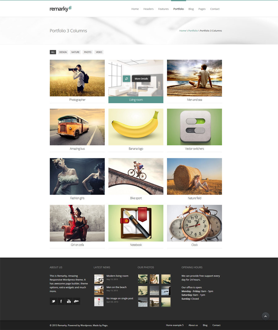 Remarky - Responsive Multi-Purpose Wordpress Theme