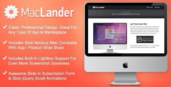 MacLander - Mac App Store Landing Page