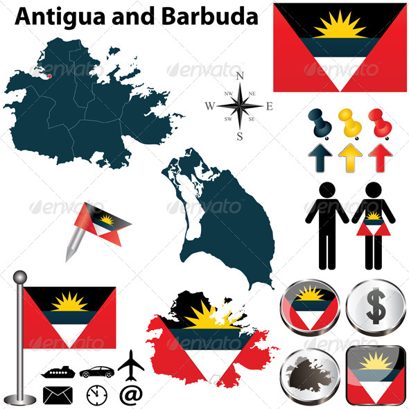 GraphicRiver Map of Antigua and Barbuda 4796468