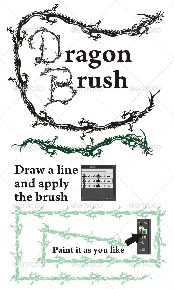 GraphicRiver Dragon Brush 4796643