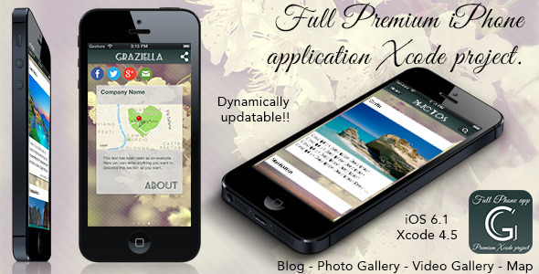 CodeCanyon Graziella Full Premium iPhone App 4796801