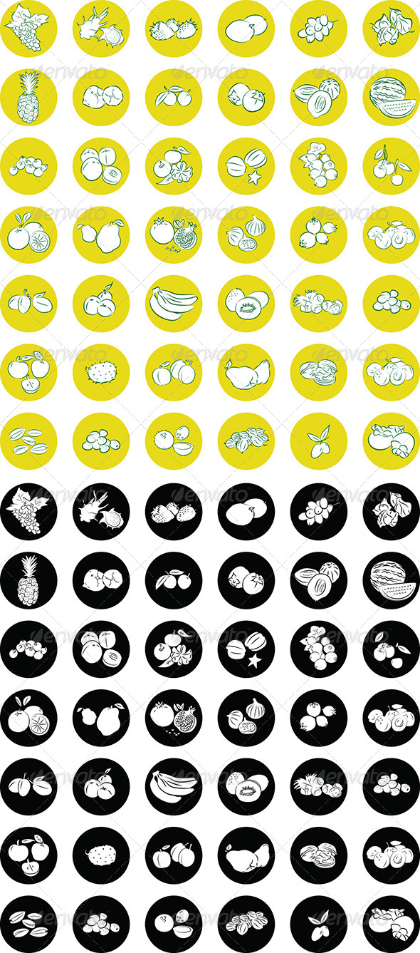 GraphicRiver Fruit Icons 4796824