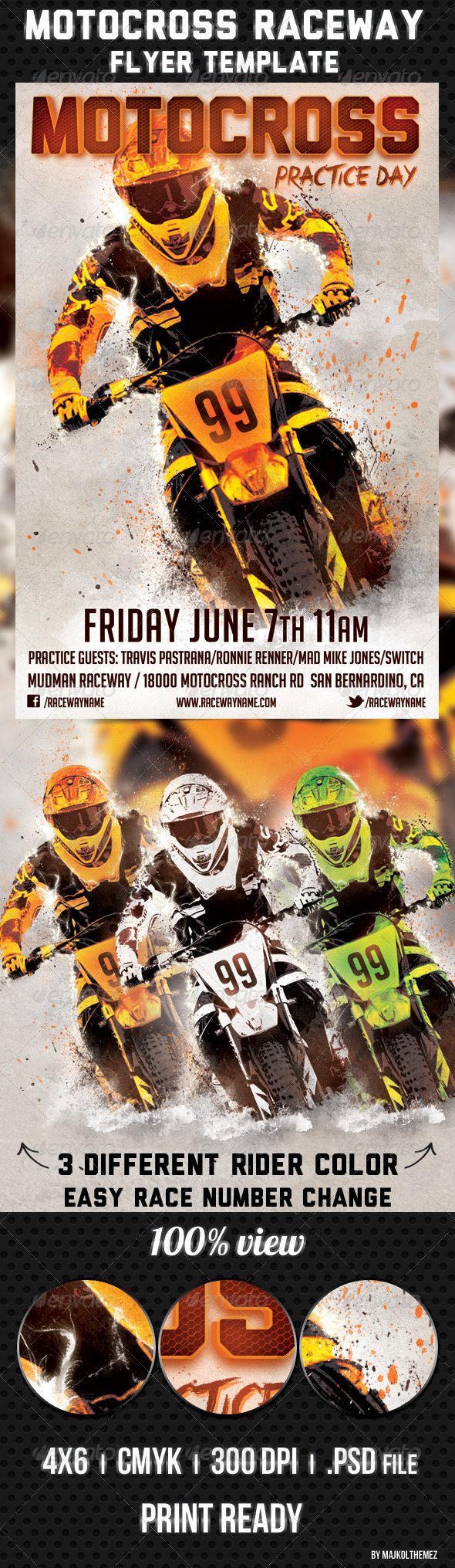 GraphicRiver Motocross Raceway Flyer Template 4796858