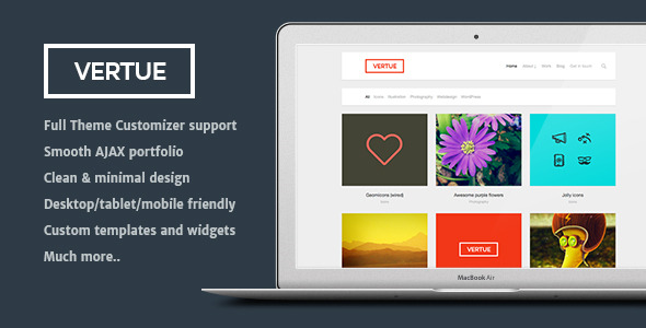 Vertue - clean and minimal AJAX portfolio theme
