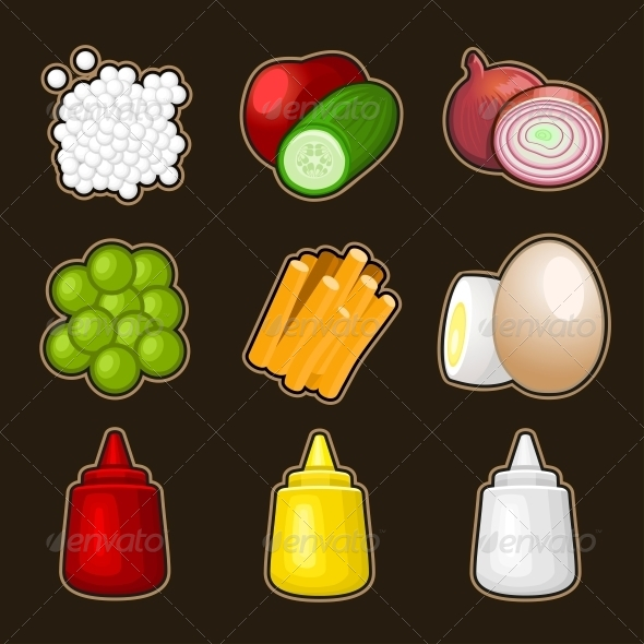 GraphicRiver Food Products Icon Set 4796981