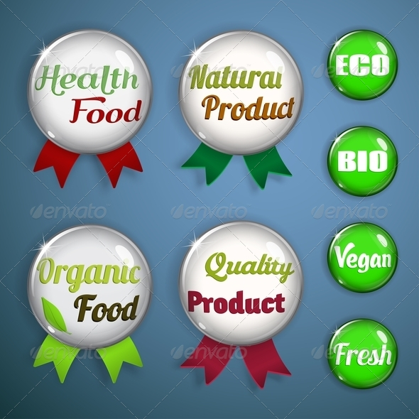 Organic Labels, Badges and Stickers from Glass - Retail Commercial / Shopping