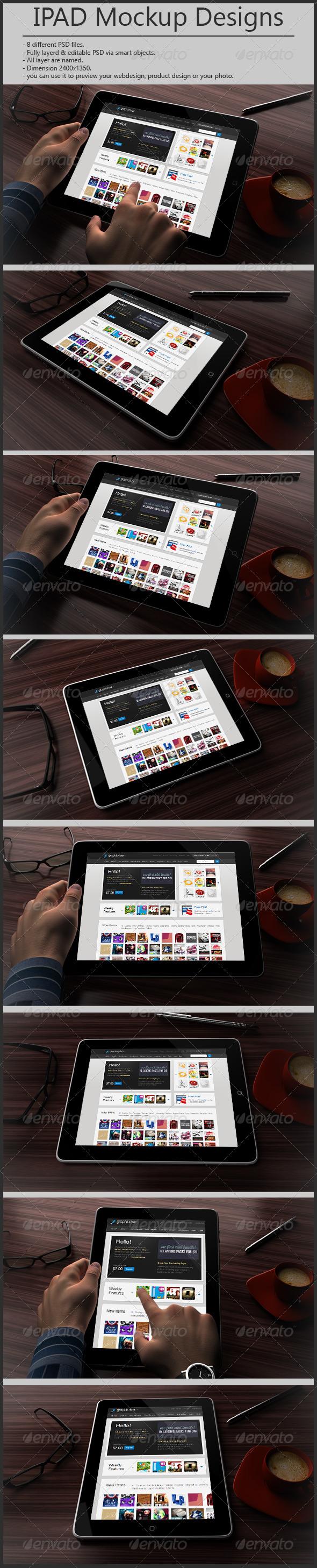 GraphicRiver Tablet Mockup Design 4741244