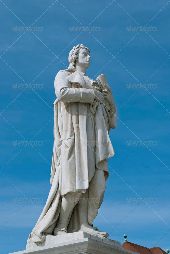 Schiller Statue in Berlin  - Stock Photo - Images