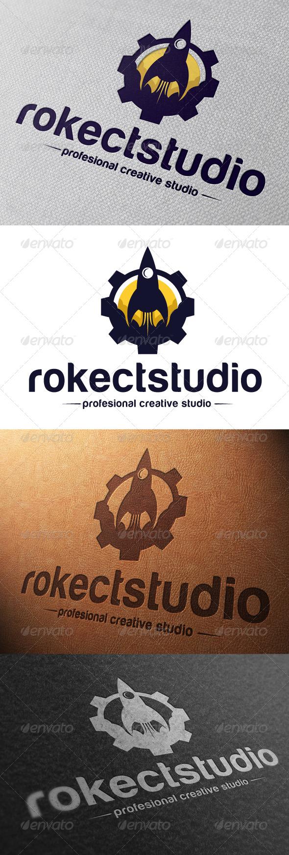 GraphicRiver Rocket Studio Logo Template 4797232