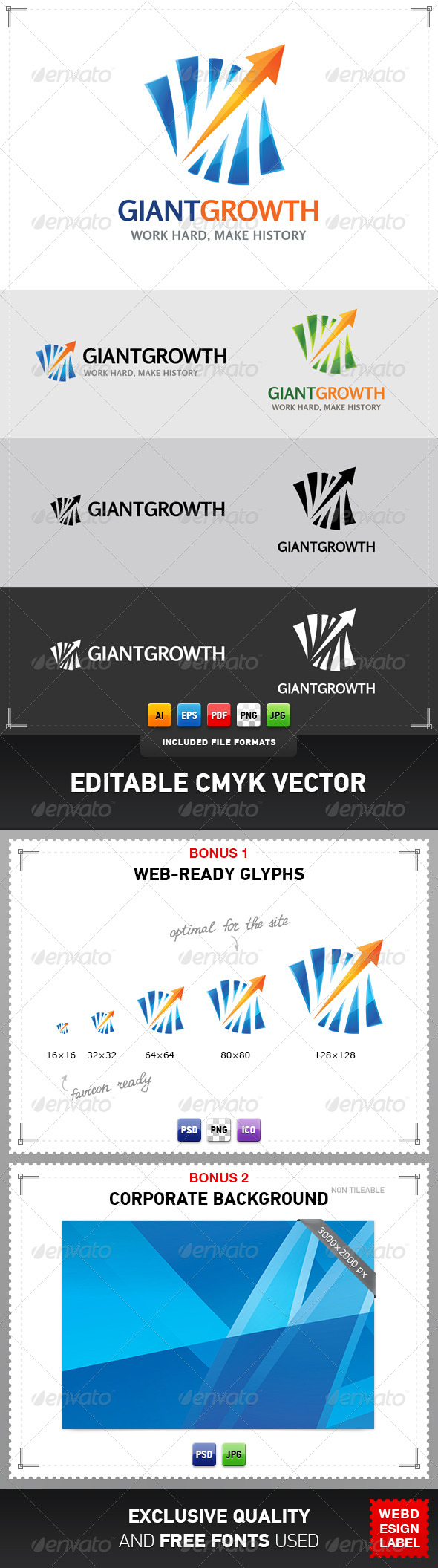 GraphicRiver Giant Growth Logo 4797257