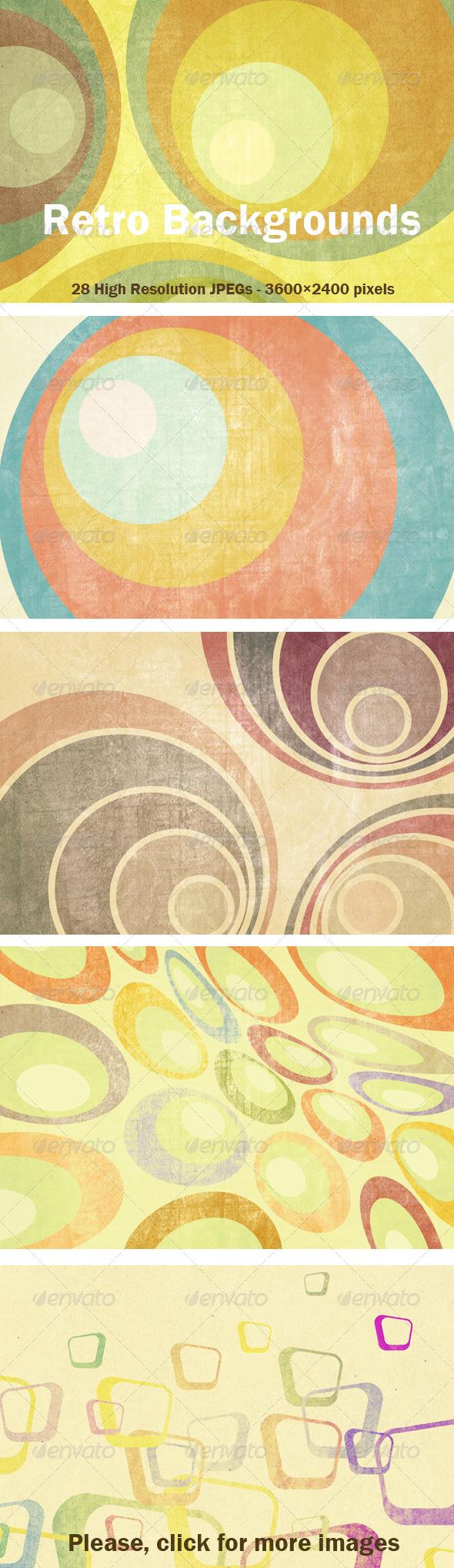 GraphicRiver 22 Retro Backgrounds 4797329