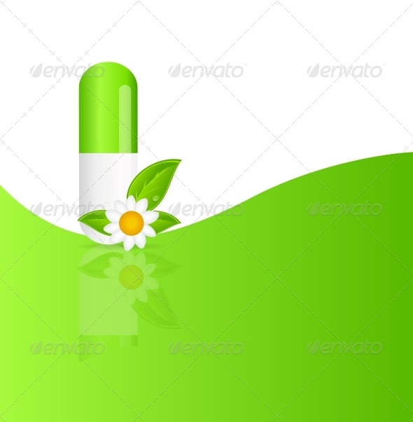 GraphicRiver Herbal Pill Icon Environment Background 4797497