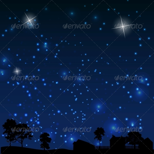 GraphicRiver Vector illustration of Night 4797552