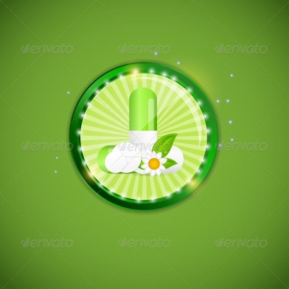 Herbal Pill Environment Background