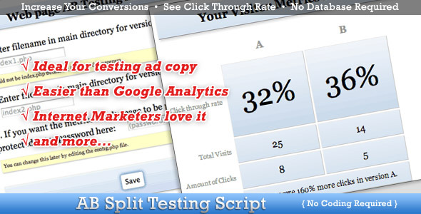 CodeCanyon AB Split Testing 4776672