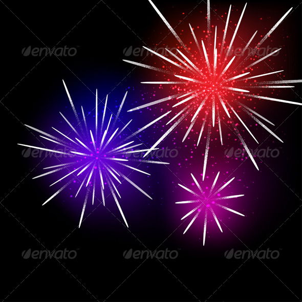 GraphicRiver Fireworks Background 4797590