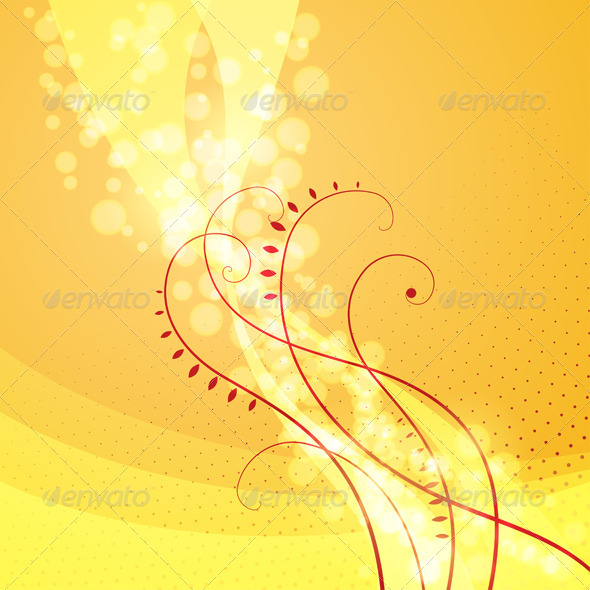 GraphicRiver Bright Floral Background 4797633