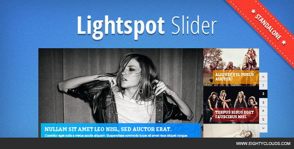 CodeCanyon Lightspot Slider Standalone 4797699