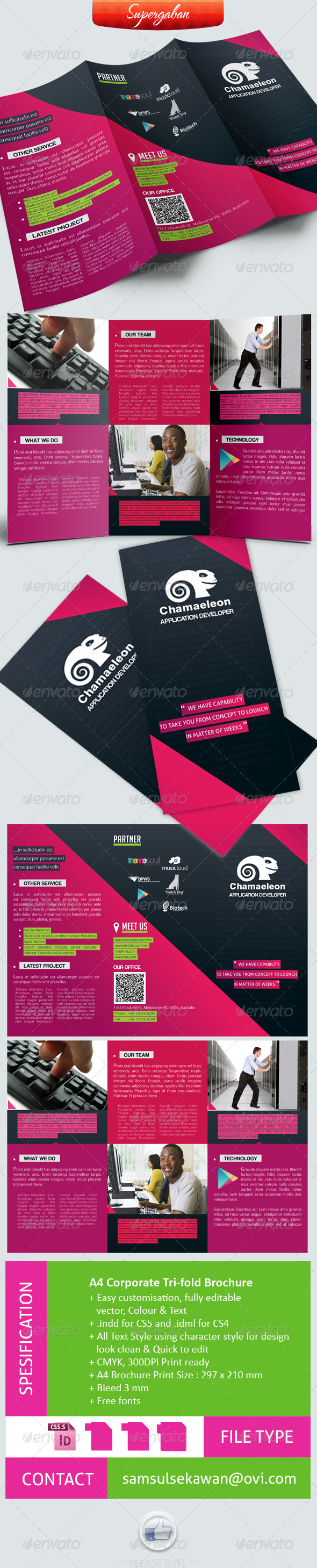 GraphicRiver A4 Trifold Corporate Brochure 4797825
