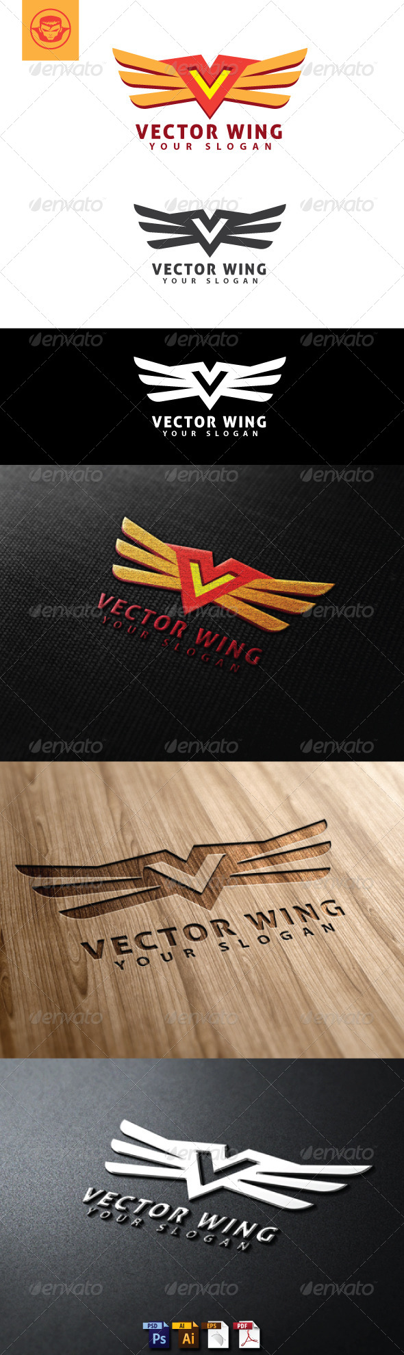 GraphicRiver Vector Wing Logo Template 4797996