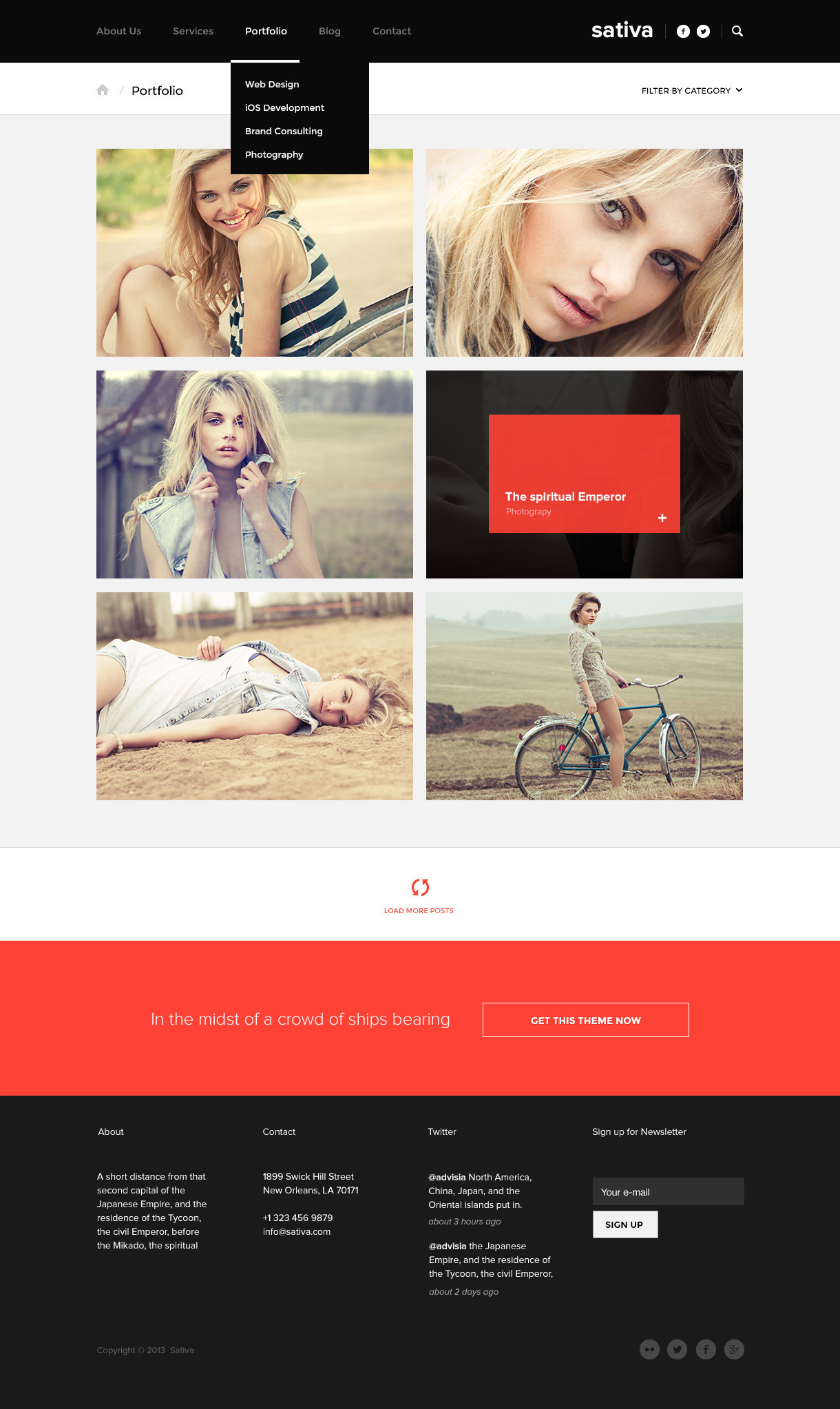 Sativa — .psd Template
