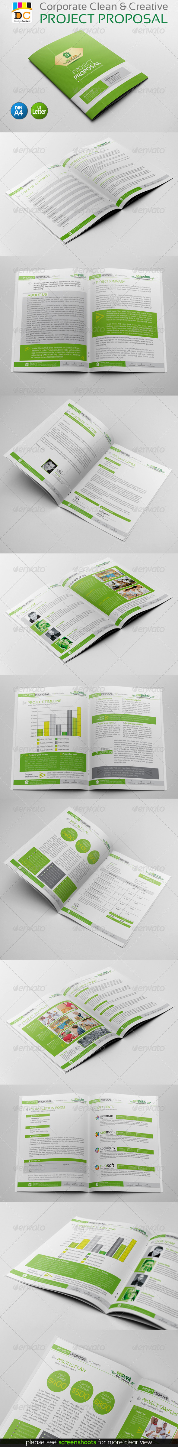 GraphicRiver Corporate Creative Clean Project Proposal 4798269