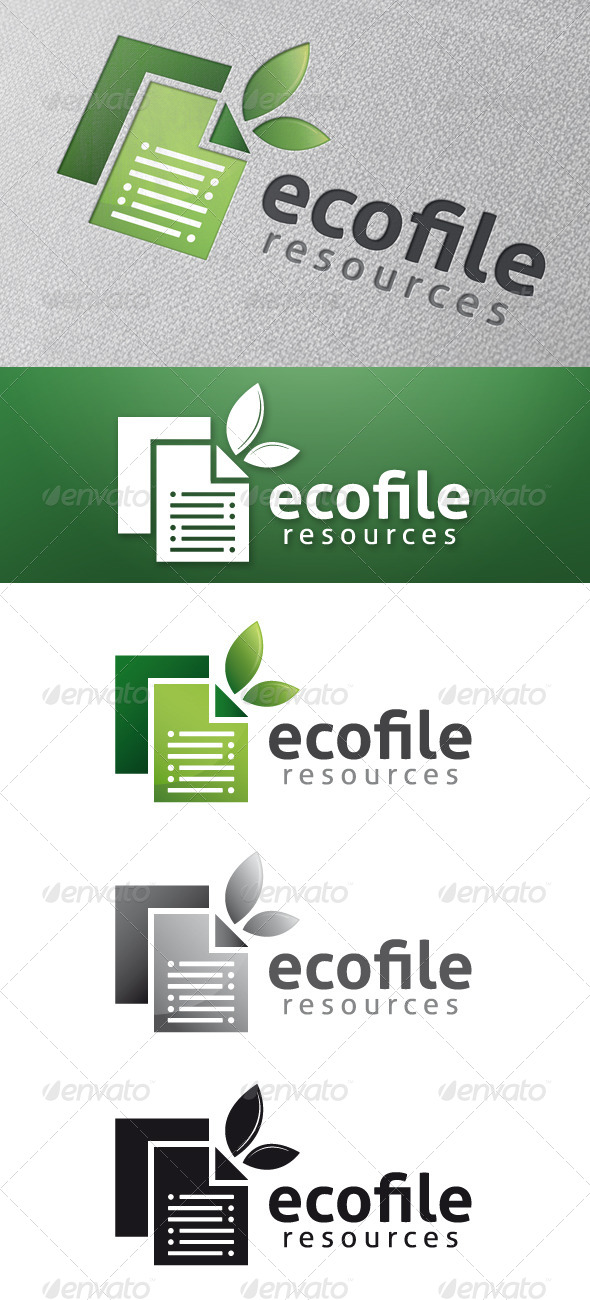 Eco File Logo Template
