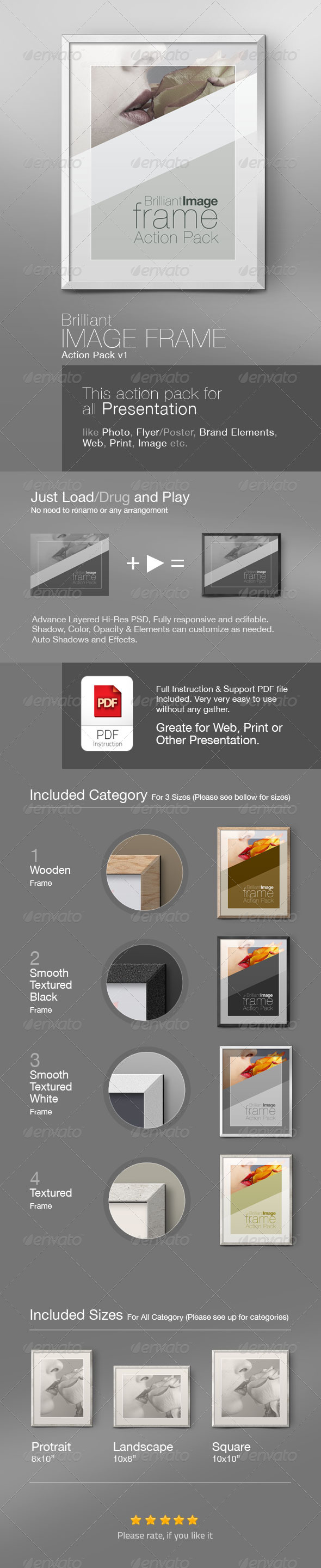 GraphicRiver Brilliant Image Photo Frame Action Pack 4798530
