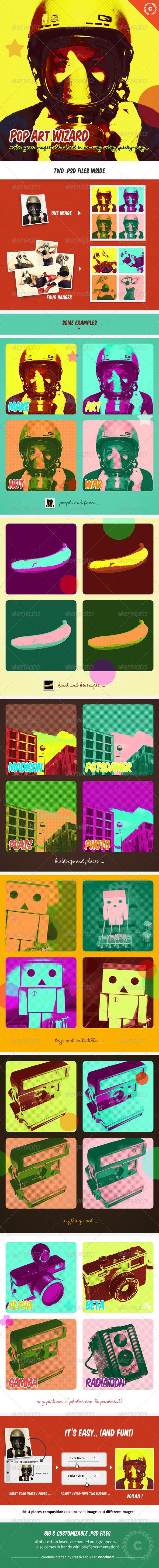 GraphicRiver Pop Art Wizard Stencils Pictures Maker 4798980