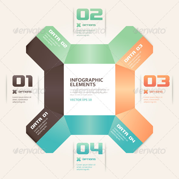 GraphicRiver Modern Origami Style Number Options Infographic 4799180
