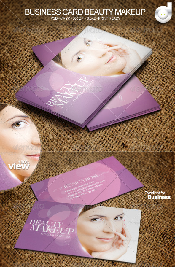GraphicRiver Business Card Beauty Makeup 4799331