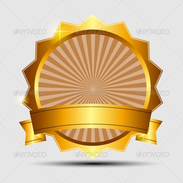 GraphicRiver Vector Gold Sign Label Template 4799408