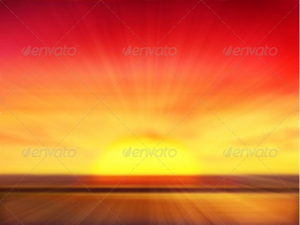 GraphicRiver Sunset Background 4799413