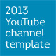 2013 YouTube 'One' Channel Layout Design Template - GraphicRiver Item for Sale