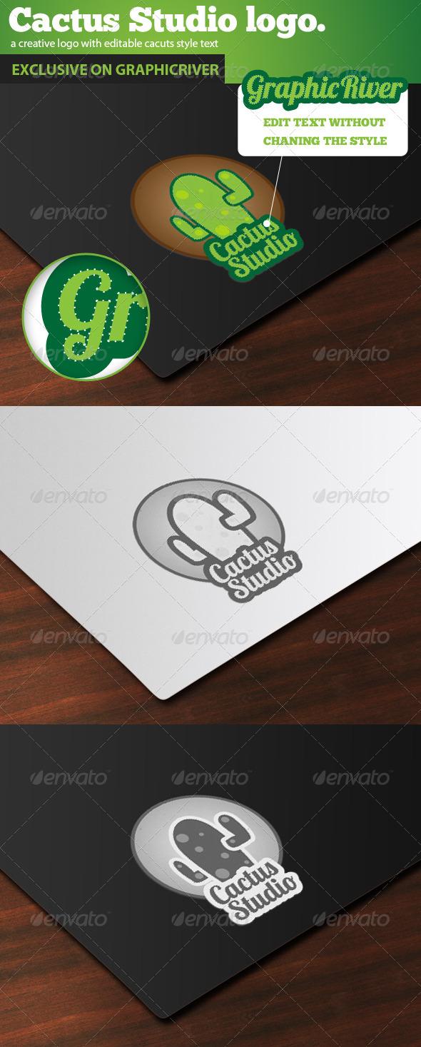 GraphicRiver Cactus Mascot Logo 4699118