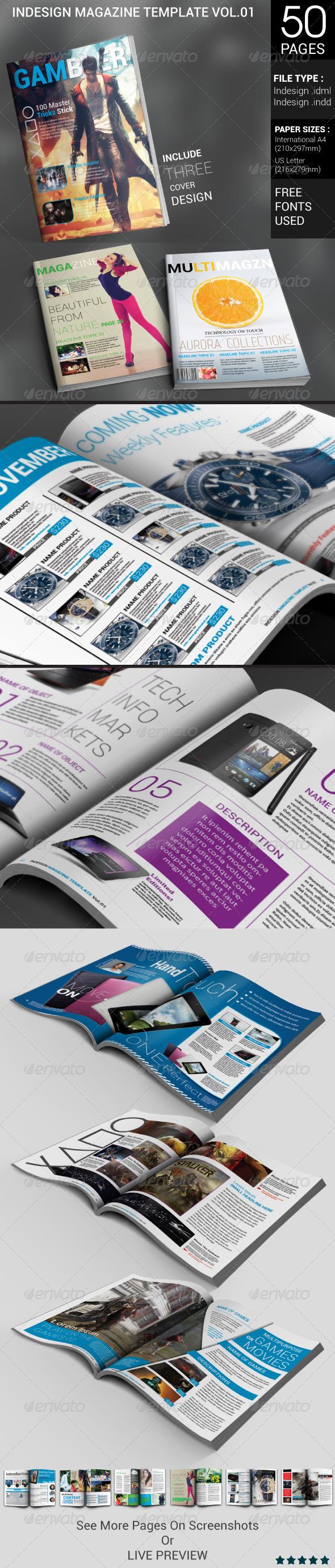 GraphicRiver Indesign Magazine Template 4800862