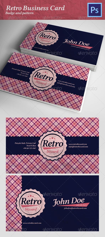 GraphicRiver Retro Business Card 4800989