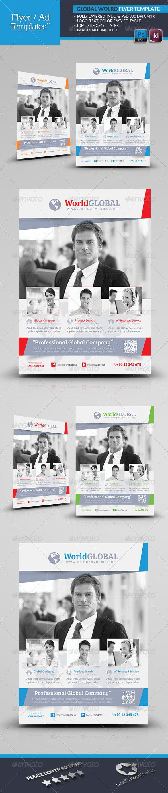 GraphicRiver Global World Flyer Template 4801050