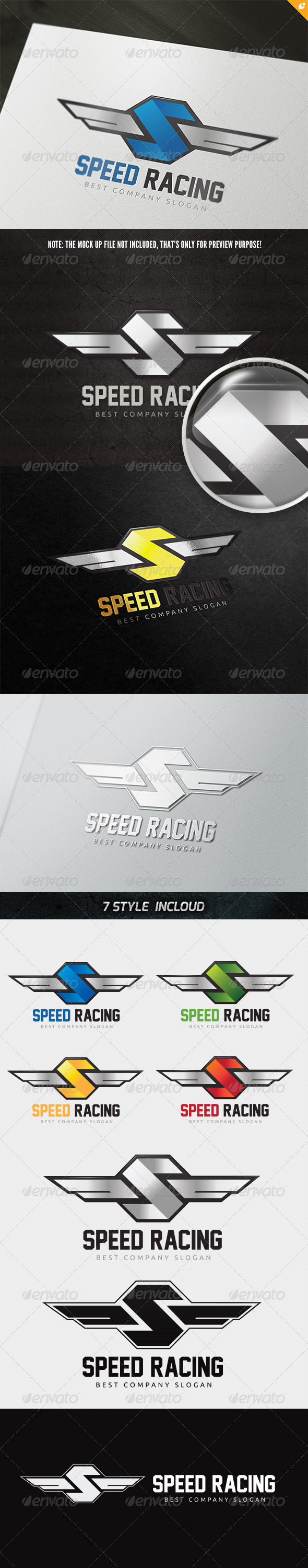 GraphicRiver Speed Racing Logo 4801155
