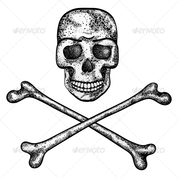 GraphicRiver Vector Illustration of Skull and Crossbones 4801241