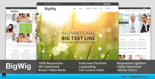 ThemeForest BigWig Modern Corporate HTML5 Template 4801306