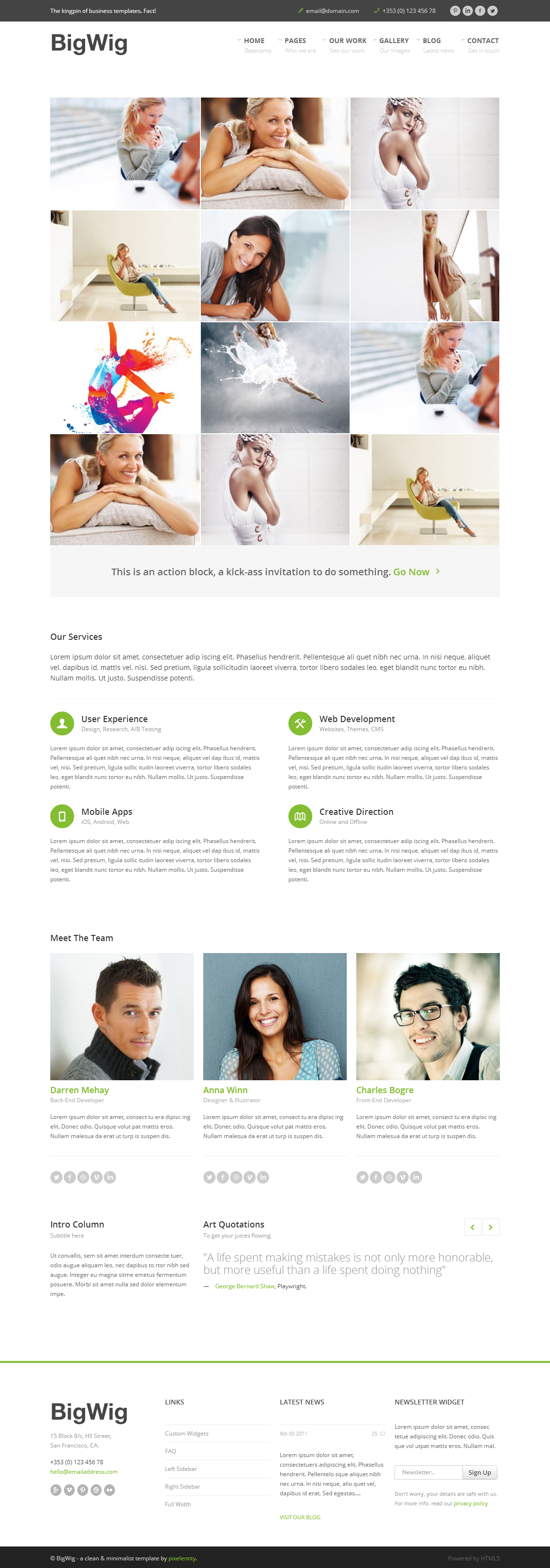 BigWig - Modern Corporate HTML5 Template