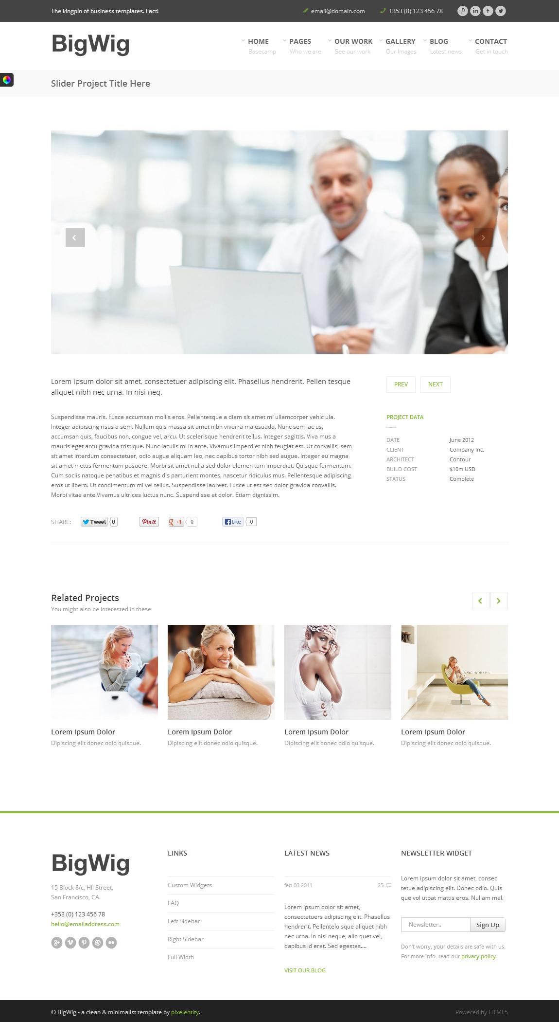 BigWig - Modern Corporate HTML5 Template