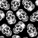 Seamless Monochrome Pattern with Skulls - GraphicRiver Item for Sale